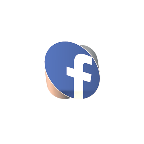 facebook 3d logo news style png