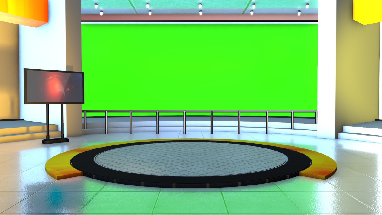 free news studio green screen