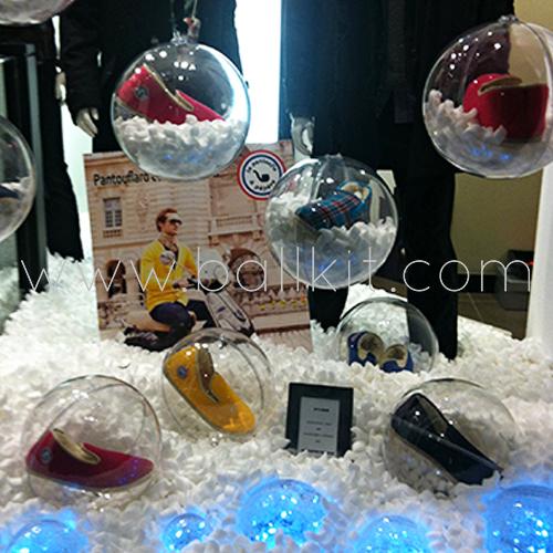 Photo bulles et boules transparentes display à garnir