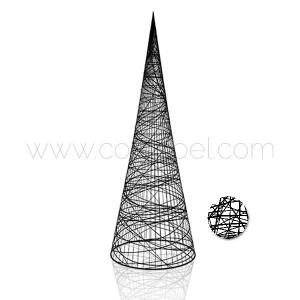 Cone en fibre de verre couleur noir