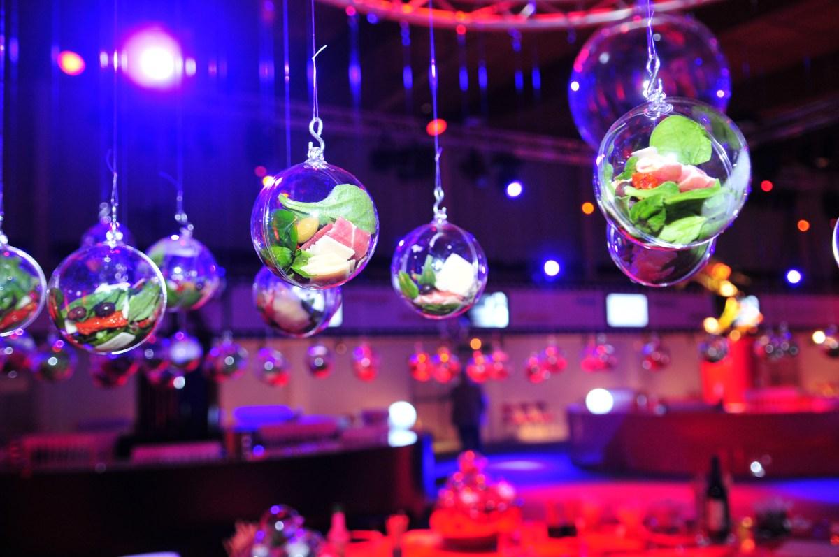 Boules transparentes à garnir suspendu