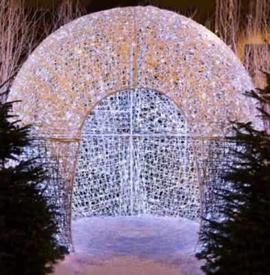 Igloo en fibre de verre illuminé pour décoration