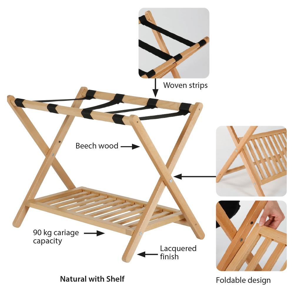 wood folding luggage rack mt displays