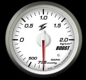 Manometro Pressione Turbo Analogico + Allarme – Stri – 52mm – White