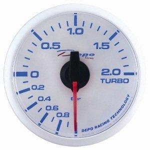 Manometro Pressione Turbo Analogico - Depo Racing - White Line - 52mm