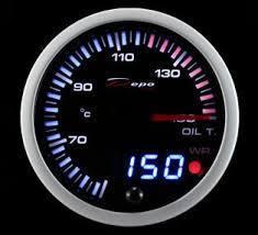 Manometro Temperatura Olio Analogico e Digitale + Allarme - Depo Racing - 60mm