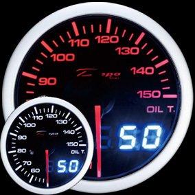 Manometro Temperatura Olio Analogico e Digitale - Depo Racing - 52mm