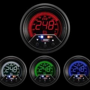 Manometro Temperatura Olio Digitale + Allarme - Prosport Serie Evo - 60mm