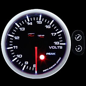 Manometro Voltmetro Analogico con Allarme - Depo Racing - 52mm