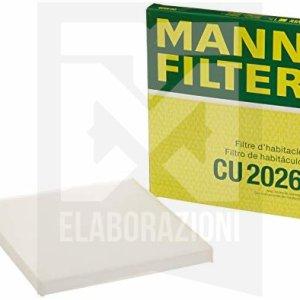 CU 2026 eCU 20 006 filtro aria abitacolo antipolline anti polline clima climatizzatore 500 595 695 abarth mann filter mondotuning mtelaborazioni