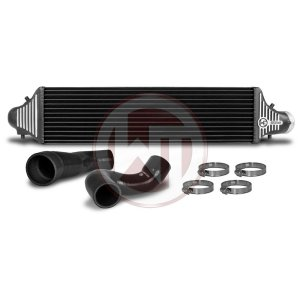 Comp. Intercooler Kit Honda Civic Type R FK2 Honda Civic Type R FK2 Honda Civic FK2 200001086 wagner wagnertuning mondotuning mtelaborazioni Competition Intercooler Kit for Honda Civic Type R FK2The high performance intercooler has the following core dimension (650mm x 175mm x 110mm) and thus offers a 23% larger cooling surface and 101% more charge air volume compared to the original intercooler. The newly developed competition core granted the adjacent components