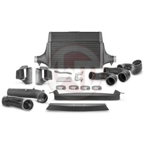 Comp. IC Kit + Intake + Pipe Kia Stinger GT Kia Stinger Kia Stinger GT 3.3 BiTurbo 200001142USA.AIRPIPE wagner wagnertuning mondotuning mtelaborazioni COMPETITION INTERCOOLER KIT Kia Stinger GT 3.3T-Gdi AWD  RWD (US)The WAGNERTUNING high-performance intercooler has got a new competition core (Tube Fin) with the dimensions 600 mm x 445(315) mm x 105(60) mm / 23
