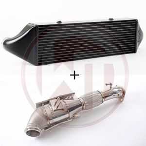 Competition Package Ford Focus MK3 ST250 Ford Ford Focus Ford Focus MK3 700001058 wagner wagnertuning mondotuning mtelaborazioni The Competition package for the Ford Focus MK3 ST250 consists of the intercooler upgrade kit and the downpipe kit.Intercooler Upgrade Kit 200001068The Competition Intercooler has the following core size (640mm x 200mm x 110mm = 14.080cm¶ü)