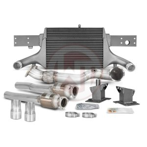 Comp. Package EVO3 RS3 8V with cat pipes Audi Audi RS3 Audi RS3 8V 700001067.NOACC wagner wagnertuning mondotuning mtelaborazioni The competition package for theAudi RS3 8V Sportback/Sedan 294KW/400PS (08/2017+) consists of the Intercooler Upgrade Kit EVO3 and the Downpipe Kit.Intercooler Upgrade Kit 200001081The high performance intercooler has the following core dimension (515mm x 367mm x 95mm = 16