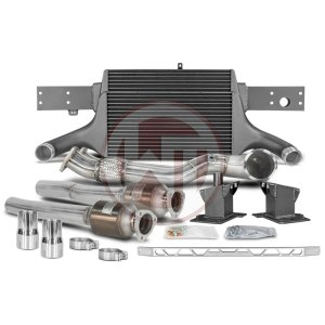 Comp. Package EVO3 RS3 8V with cat pipes Audi Audi RS3 Audi RS3 8V 700001067 wagner wagnertuning mondotuning mtelaborazioni The competition package for theAudi RS3 8V Sportback/Sedan 294KW/400PS (08/2017+) consists of the Intercooler Upgrade Kit EVO3 and the Downpipe Kit.Intercooler Upgrade Kit 200001081The high performance intercooler has the following core dimension (515mm x 367mm x 95mm = 16