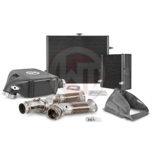 Comp. Package BMW M3-M4 S55 Intercooler / Radiator / Downpipe BMW BMW 4er BMW M4 F83 700001124 wagner wagnertuning mondotuning mtelaborazioni The competition package for the BMW M3-M4 consists the Intercooler Upgrade Kit