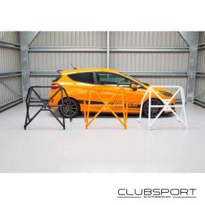 ASCCAGE6 roll cage roll bar rear posteriore post ford fiesta st mk8 1.0 ecoboost clubsport pista autospecialist airtec mtelaborazioni