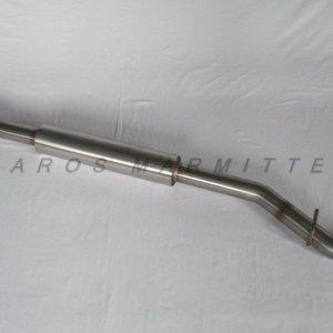 Cat back centrale silenziato per Subaru BRZ – diametro 63.5 mm realizzato artigianalmente da Aros Marmitte in acciaio inox