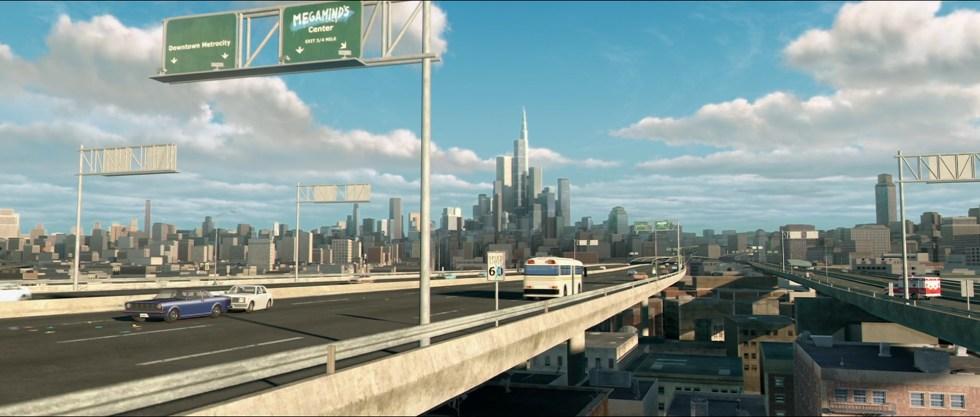 City, fixtures, roads, & overpasses