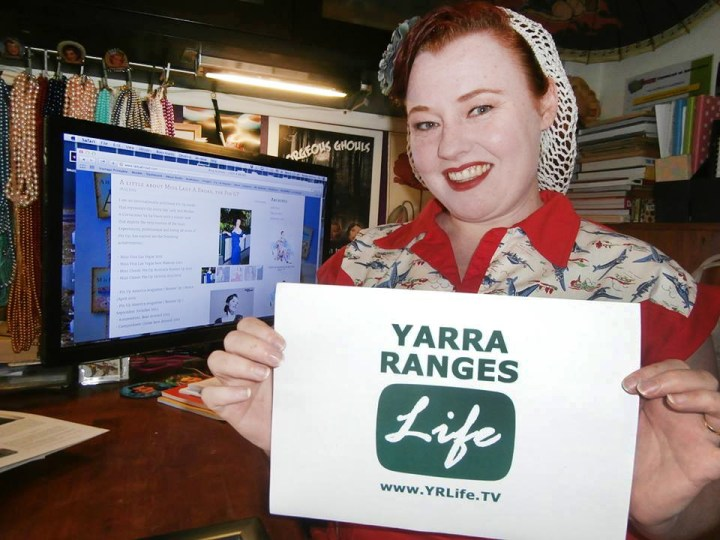 Yarra Ranges LIFE TV interviews Miss Lady A Broad