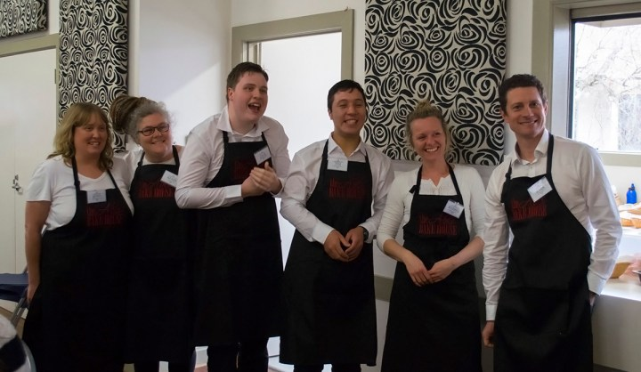 High tea chefs and staff