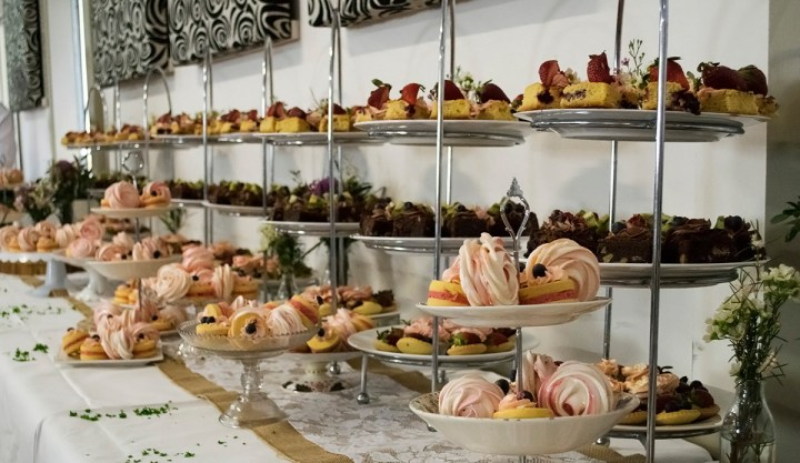 High tea food display