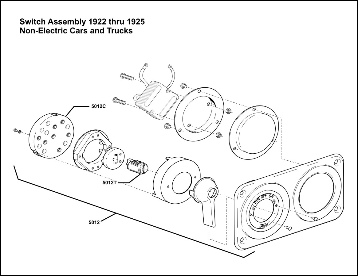 Model T Ford Forum Thru Switch Assembly For Non Electrified Cars I Think
