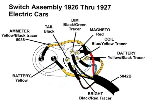 model t ford forum 1926 headlight/ ignition wiring diagram