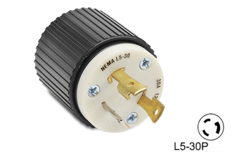 Nema L5 30p Twist Lock Plug 30 Amp 125 Volt Nylon Housing