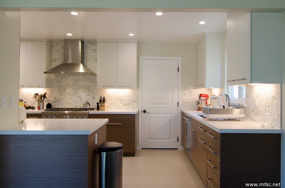 Two Tone Modern Kitchen Remodel Before Amp After MTKC
