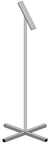 Торговая стойка металлическая Мр1