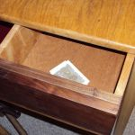 Ronno Cooke - Side Table w/Mahogany Inlay & Hidden Drawer