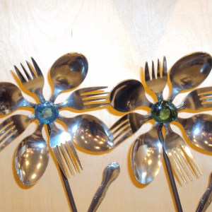 Mike Cowan Flatware Flowers