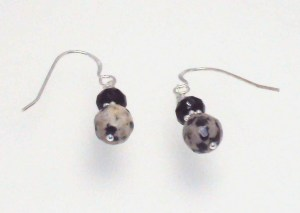 Dalmatian Jasper & Black Onyx with Sterling Silver