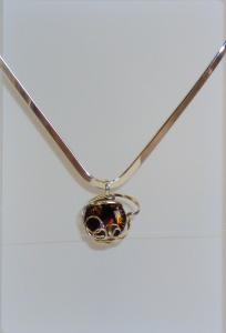 sterling silver wire pendant by Asheville artist Edwin Weaver