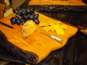 Wood cheese platter