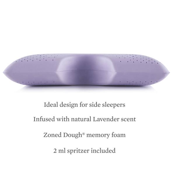 Malouf Z Pillows Shoulder Zoned Dough 174 Lavender