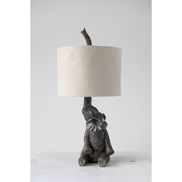 Resin Elephant Table Lamp