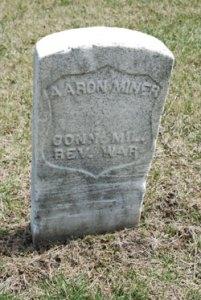 Gravesite of Aaron Miner