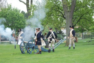 The blast of the Bluecoat's cannon