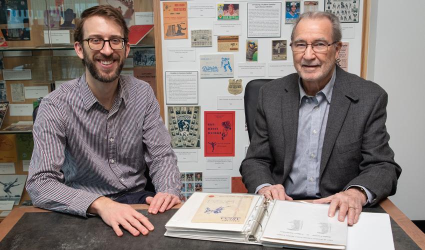 Photo of Peter Houston and Robert Blaine.