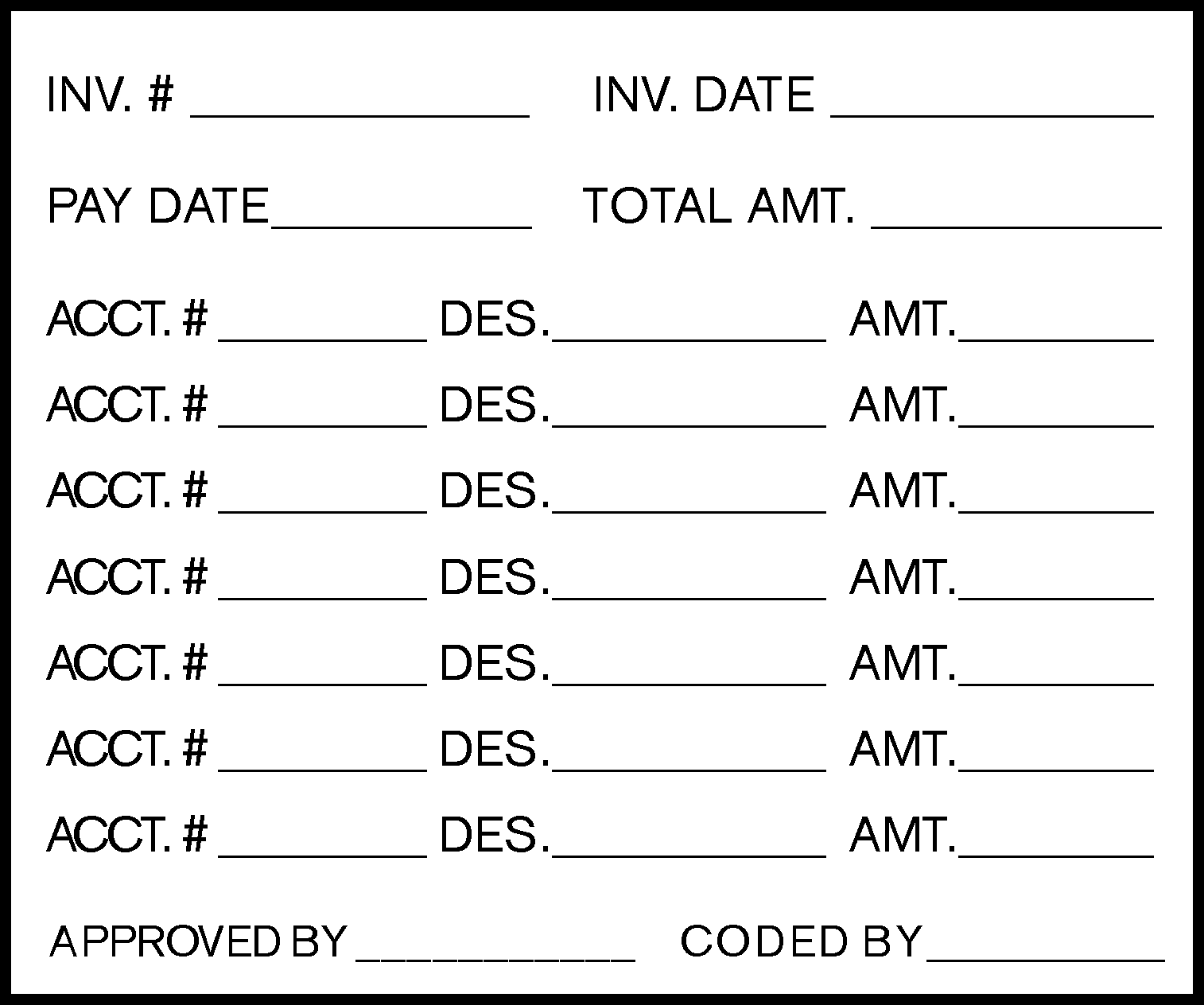 Accounts Payable Coding Stamp Arts