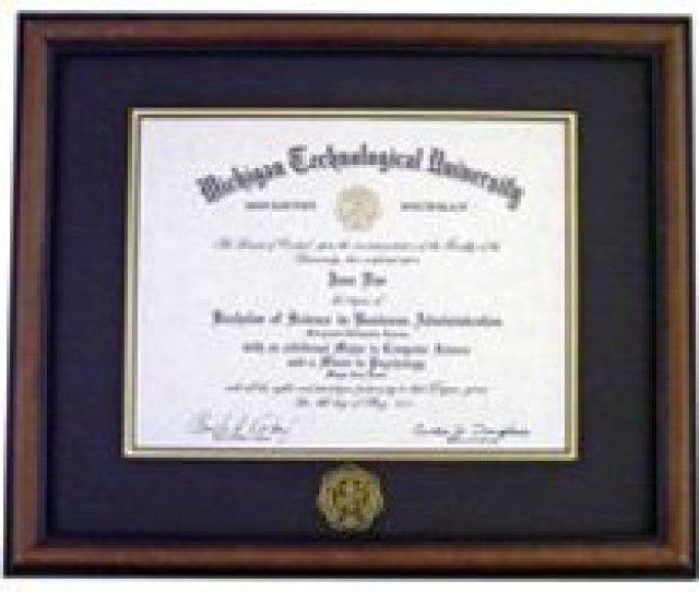 Hardwood Diploma Frame