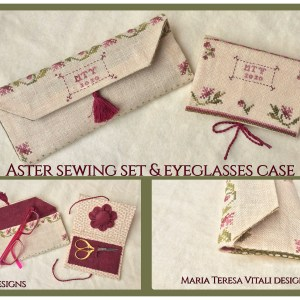 Aster sewing set & Eyeglasses Case