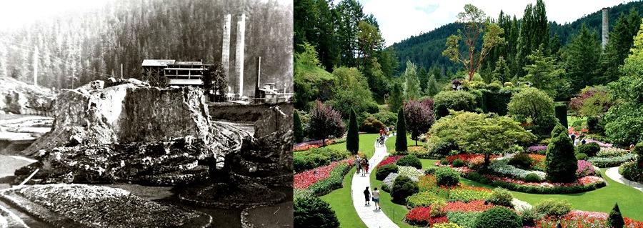 Бучарт сады- старое и новое