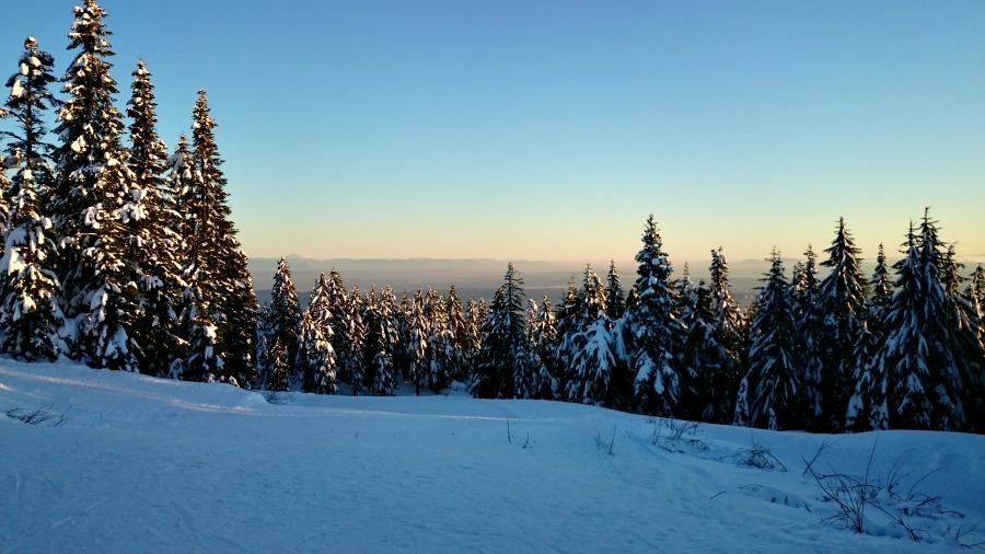 снег в Ванкувере