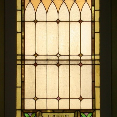 One stained glass window