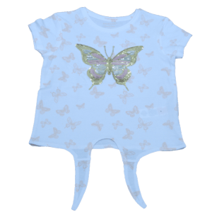 Girl's Butter Fly Printed T-Shirt