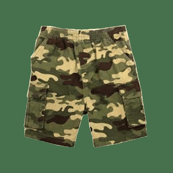 Men's Elasticated Camo Cargo Shorts