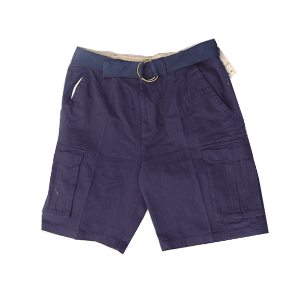 Men's Belted Twill Shorts